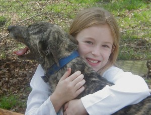 greyhound & little girl