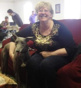 Chris Miller & her greyhound Leah
